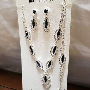 Jewelry - Set Rhinestone Neclace, Earring Bracelet